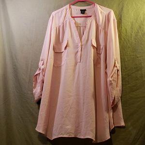 Torrid Sheer Blush blouse with Pockets